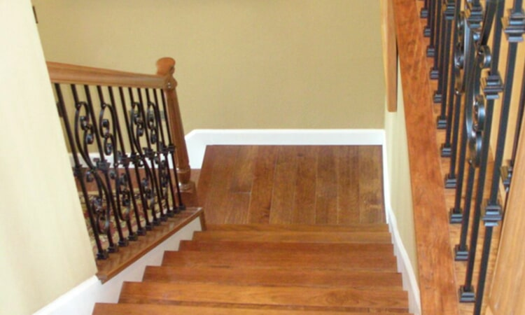 Modern stairway installation from Central Valley Floor Design in Granite Bay, CA