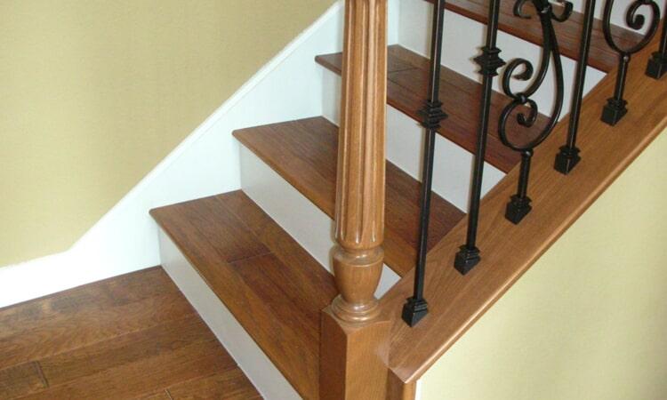 Custom hardwood stairs from Central Valley Floor Design in El Dorado Hills, CA