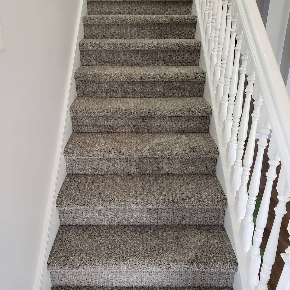 Carpeted stairs in Grand Rapids, MI from Absolute Floor Covering