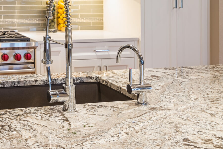 Modern kitchen countertops in Sun Prairie, WI from Majestic Floors and More LLC