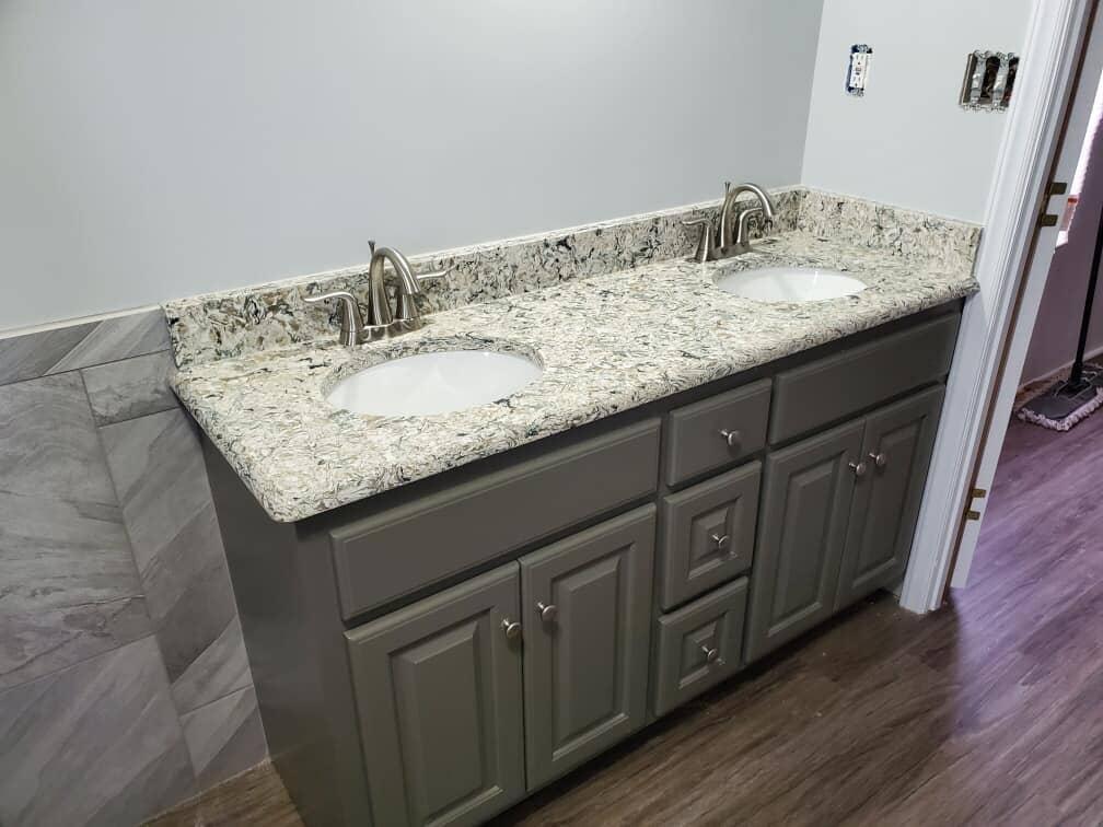 Bathroom countertops in Wilson NC from Richie Ballance Flooring