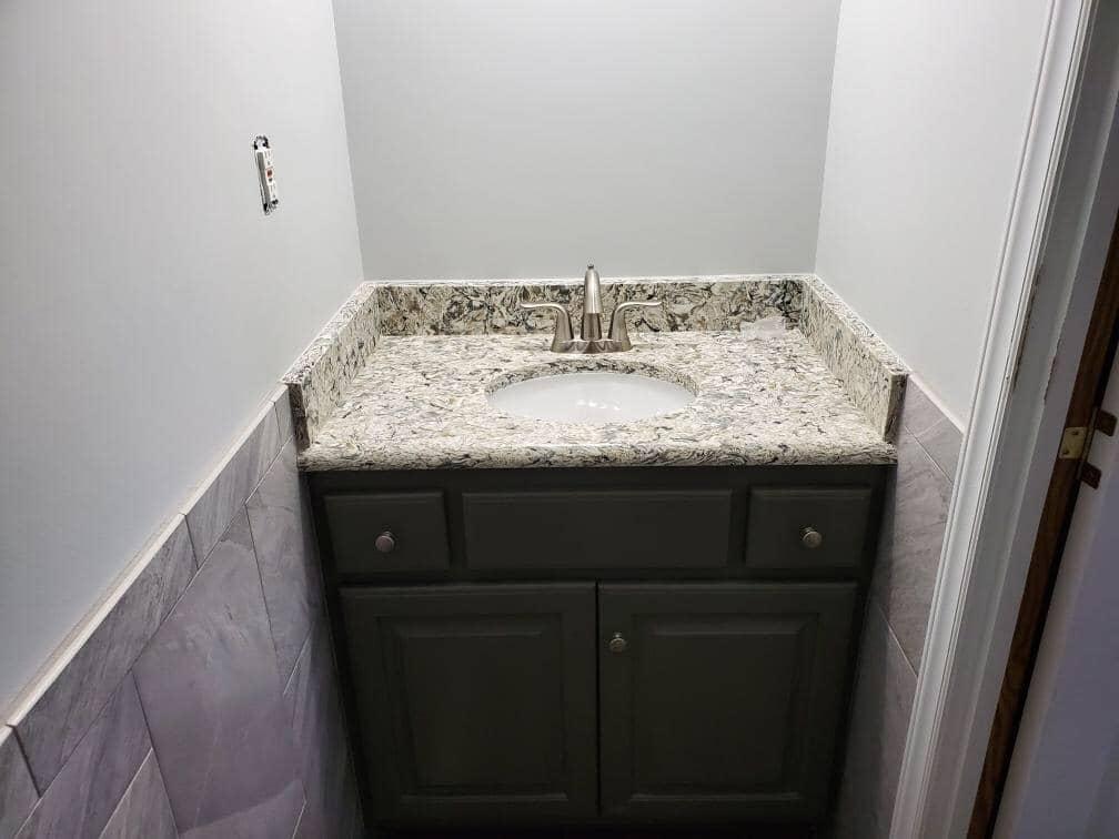 Bathroom sink in Wilson NC from Richie Ballance Flooring