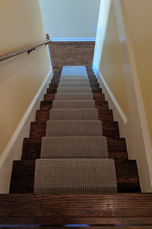 Patterned carpet stair runners in Clayton, NC from Clayton Flooring Center