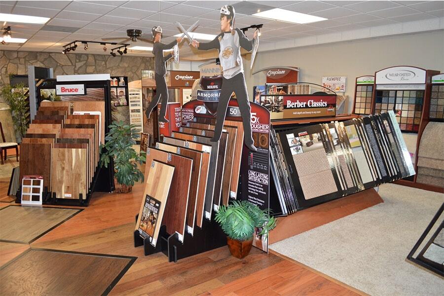 Hardwood flooring options in our Clayton, NC showroom