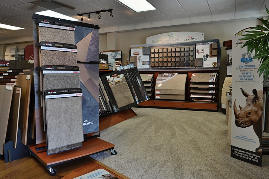Check out the carpet options in our Clayton, NC showroom