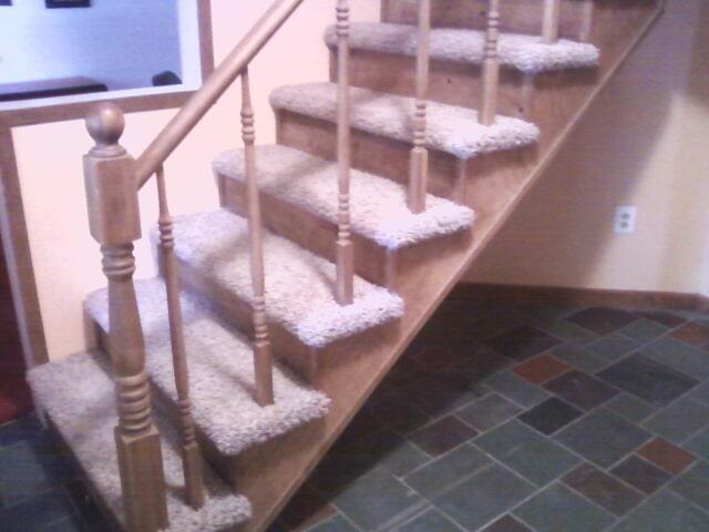 Custom stairway flooring installation in Grosse Ile, MI from Floorz by Bill