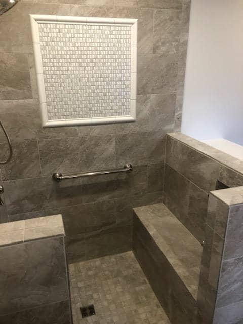 Bathroom renovation by Richie Ballance Flooring & Tile in Wilson, NC