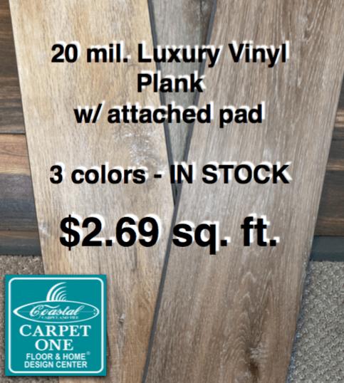 LVP sale in stock Coastal Carpet and Tile Destin Florida