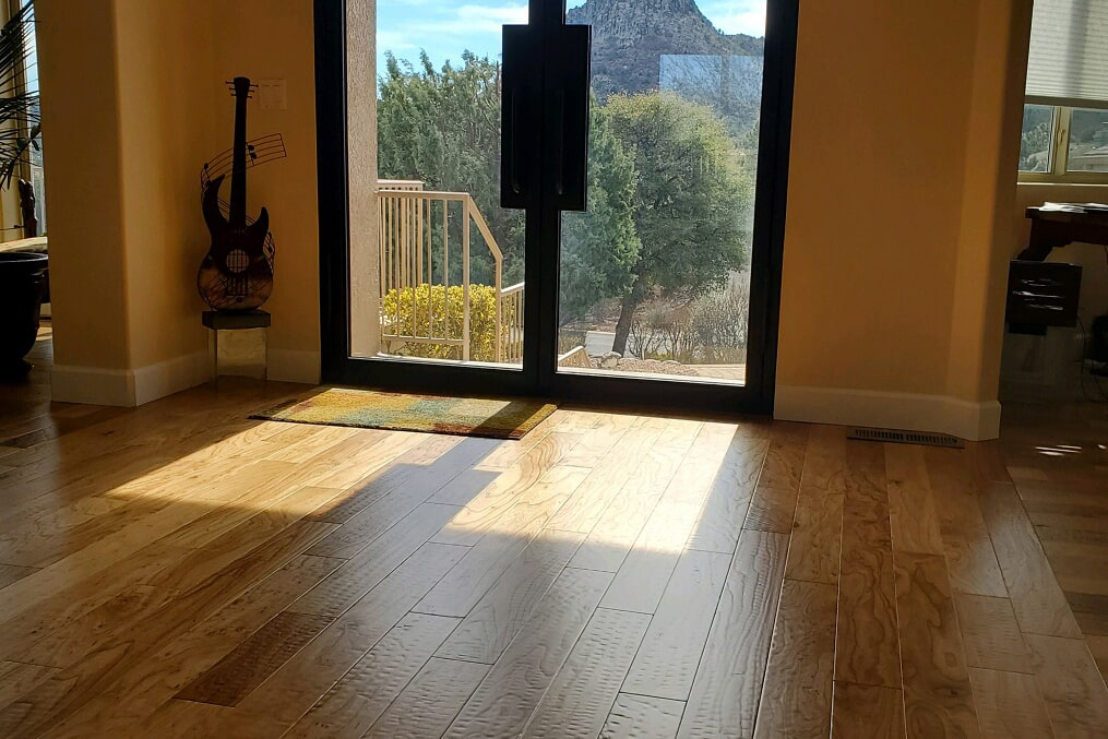 Textured hardwood flooring installation in Dewey-Humboldt, AZ from Prescott Flooring Brokers