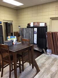 Roop's Carpet showroom in Cabot, AR