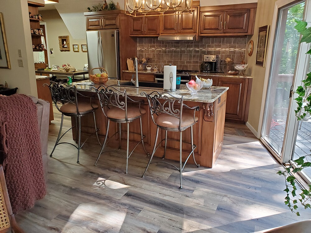 Grey wood look flooring in Lake Lure, NC from BPS Southeast