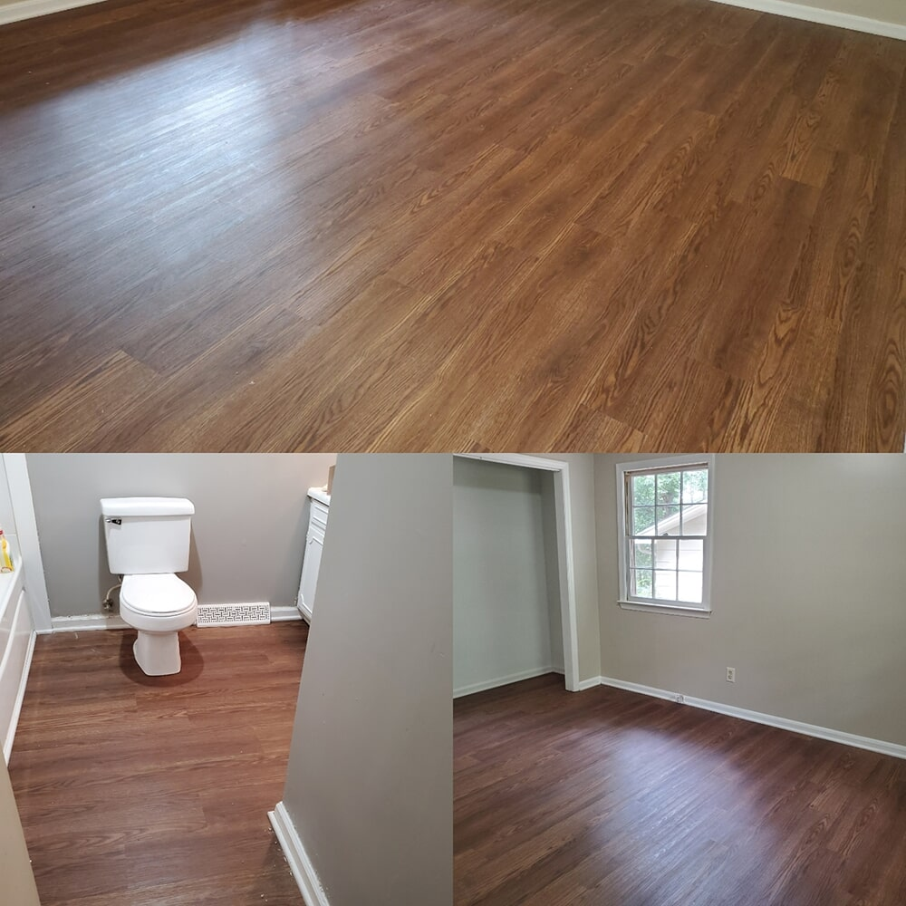 Wood look bathroom flooring in Columbus, NC from BPS Southeast