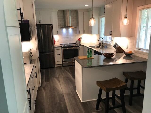 Kitchen remodel with luxury vinyl flooring in Trenton, MI