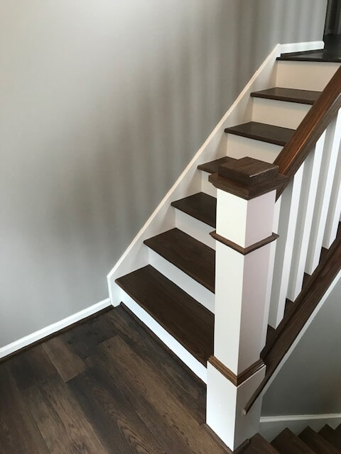 Beautiful stair installation from Finishers Unlimited in Monroe, MI