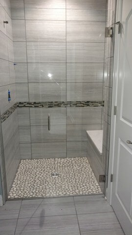 shower tile from Carpet Country in Hudson, OH