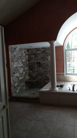 bathroom stone from Carpet Country in Macedonia, OH