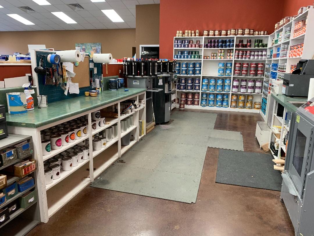 Our showroom in Stewart, TN