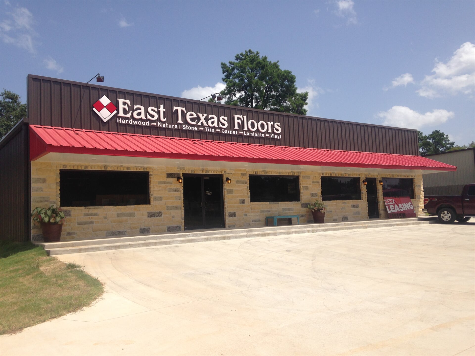 The East Texas Floors store front in Tyler, TX