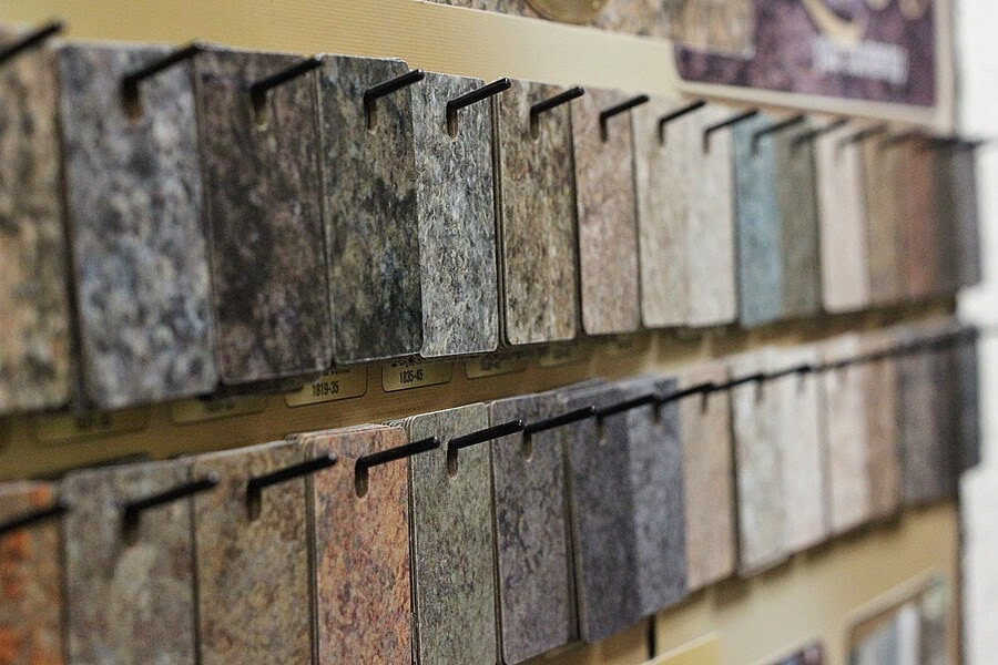 Natural stone swatches to plan your Jacksonville, TX home renovation