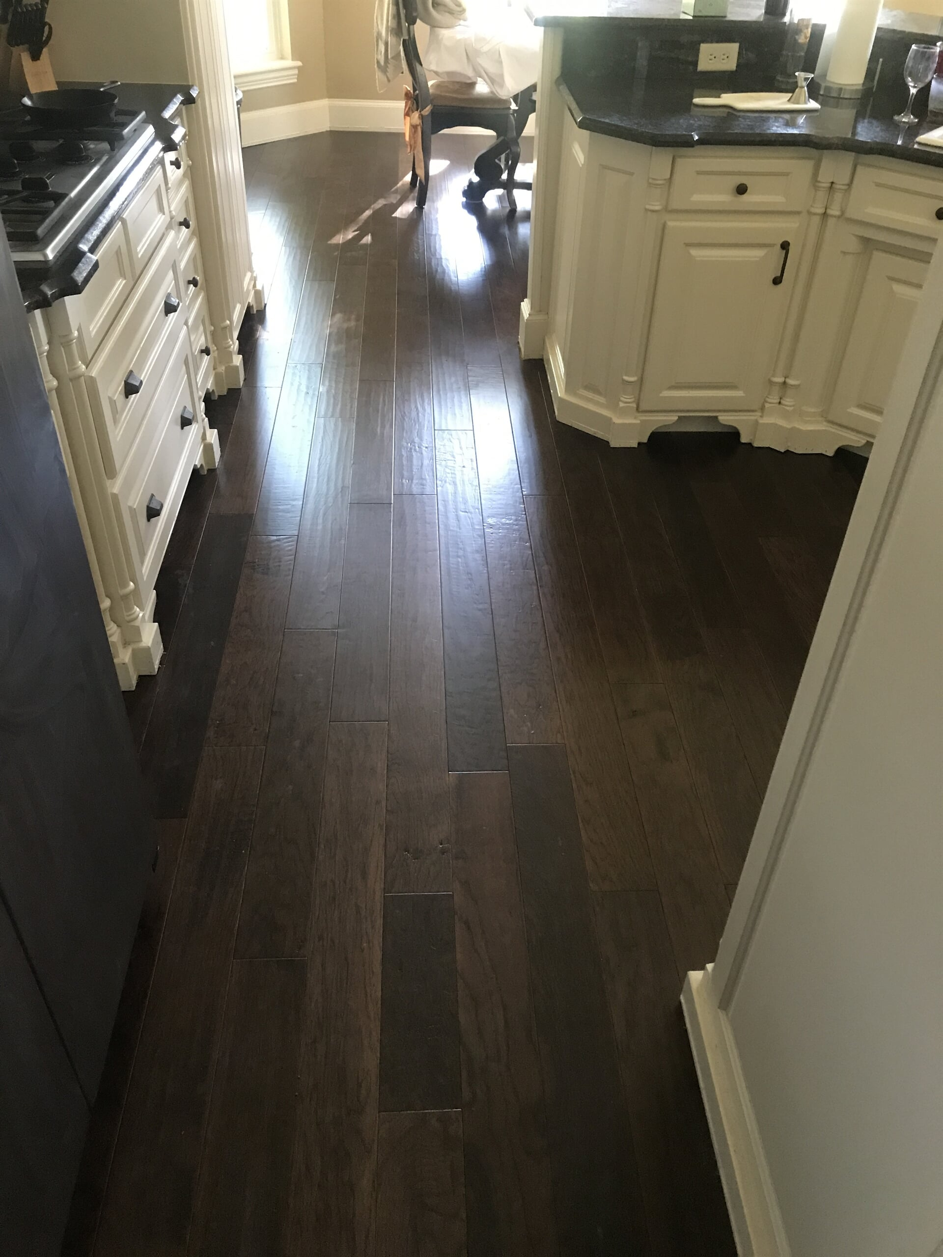 Dark wood look kitchen flooring in Tyler, TX from East Texas Floors