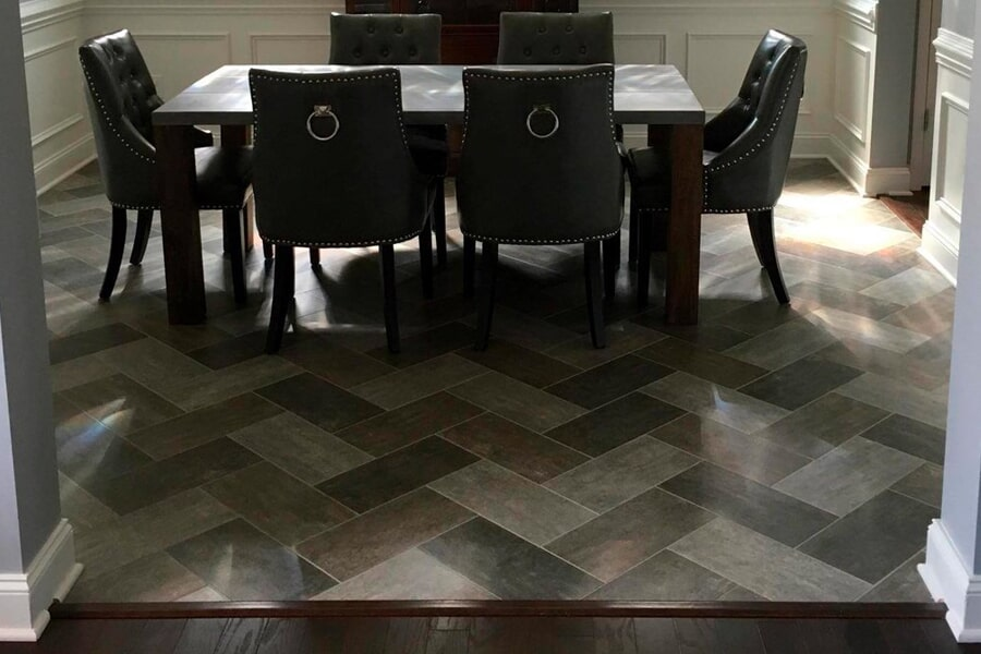 Wood look tile flooring in Lake Norman, NC from LITTLE Wood Flooring & Cabinetry