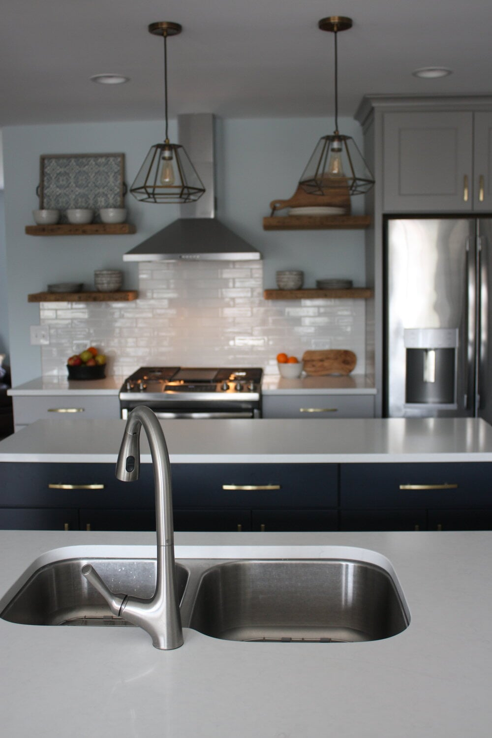 Beautiful kitchen renovation in Lake Norman, NC from LITTLE Wood Flooring & Cabinetry