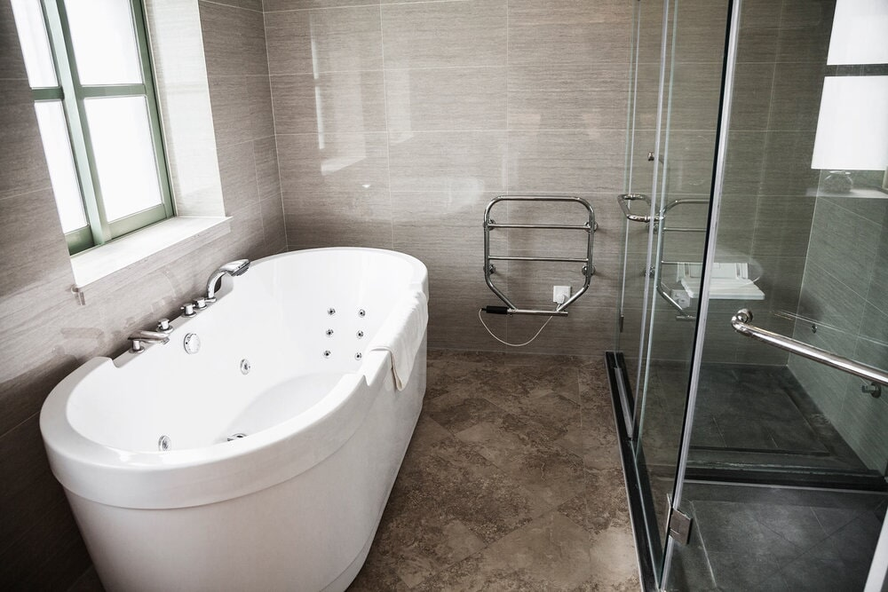 Custom bath and shower renovation in Lake Norman, NC from LITTLE Wood Flooring & Cabinetry