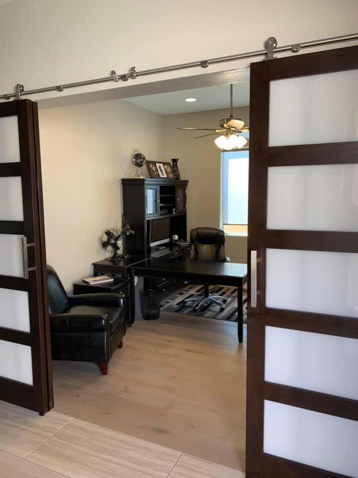 Custom sliding door installation in Phoenix, AZ from Cornerstone Flooring Brokers