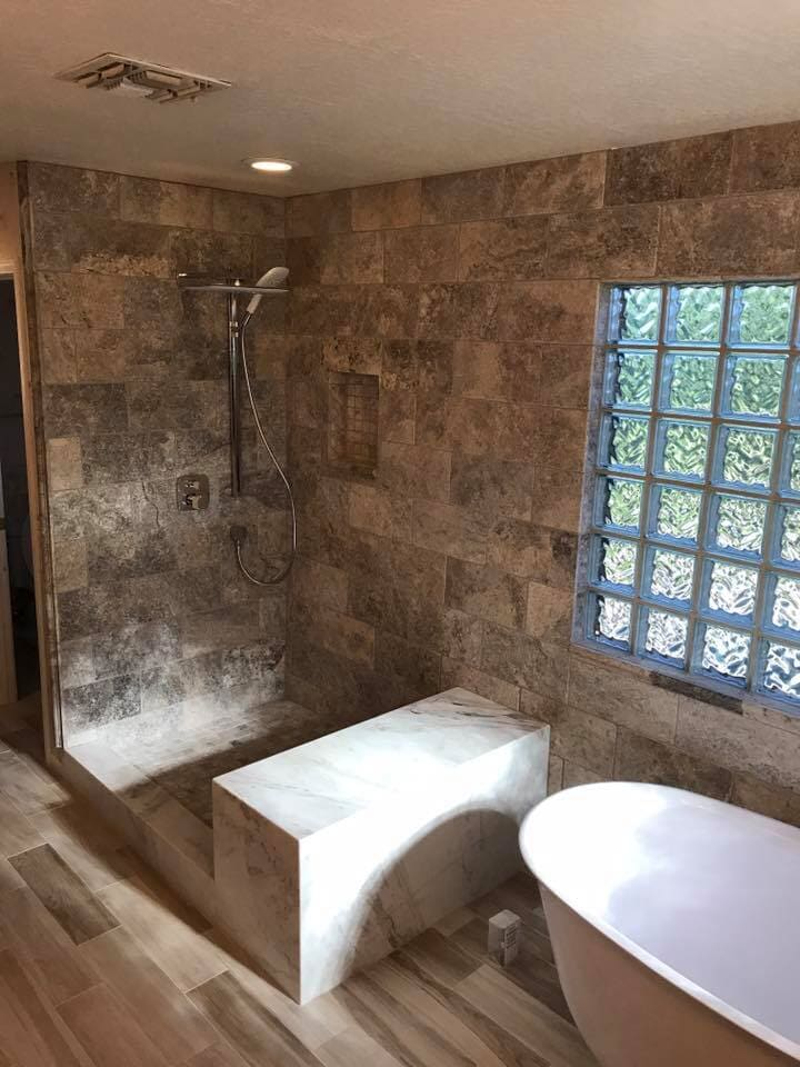 Custom bathroom renovation in Glendale, AZ from Cornerstone Flooring Brokers