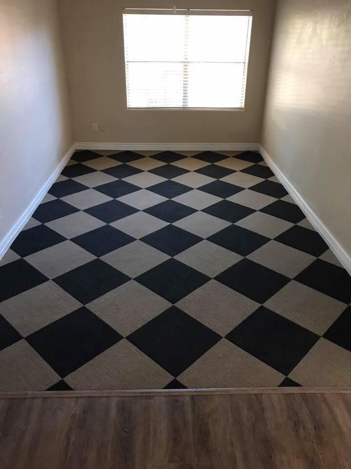 Checkered carpet flooring in Scottsdale, AZ from Cornerstone Flooring Brokers