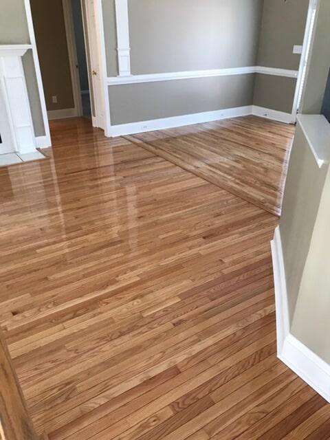 Patterned hardwood flooring installation in Duluth, GA from Delta Carpet & Decor