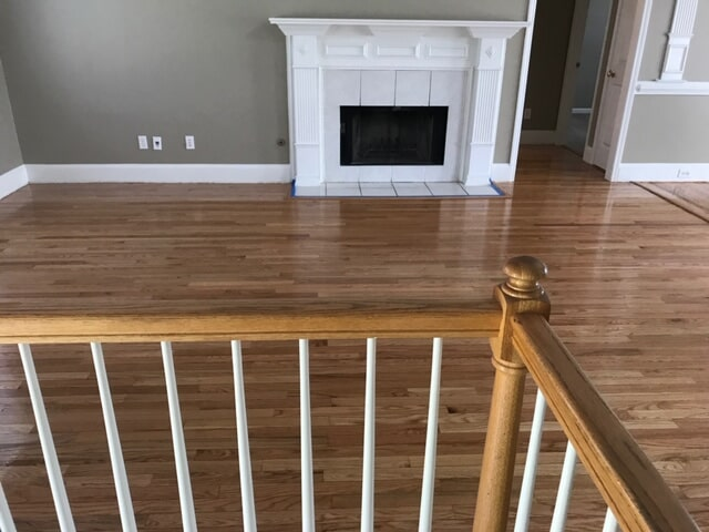 Multi story hardwood install in Duluth, GA from Delta Carpet & Decor