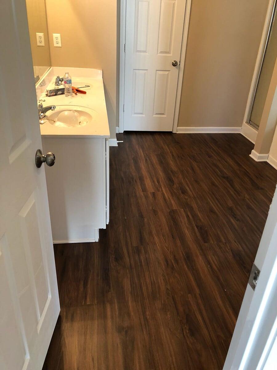 Dark walnut hardwood floors in Stone Mountain, GA from Delta Carpet & Decor