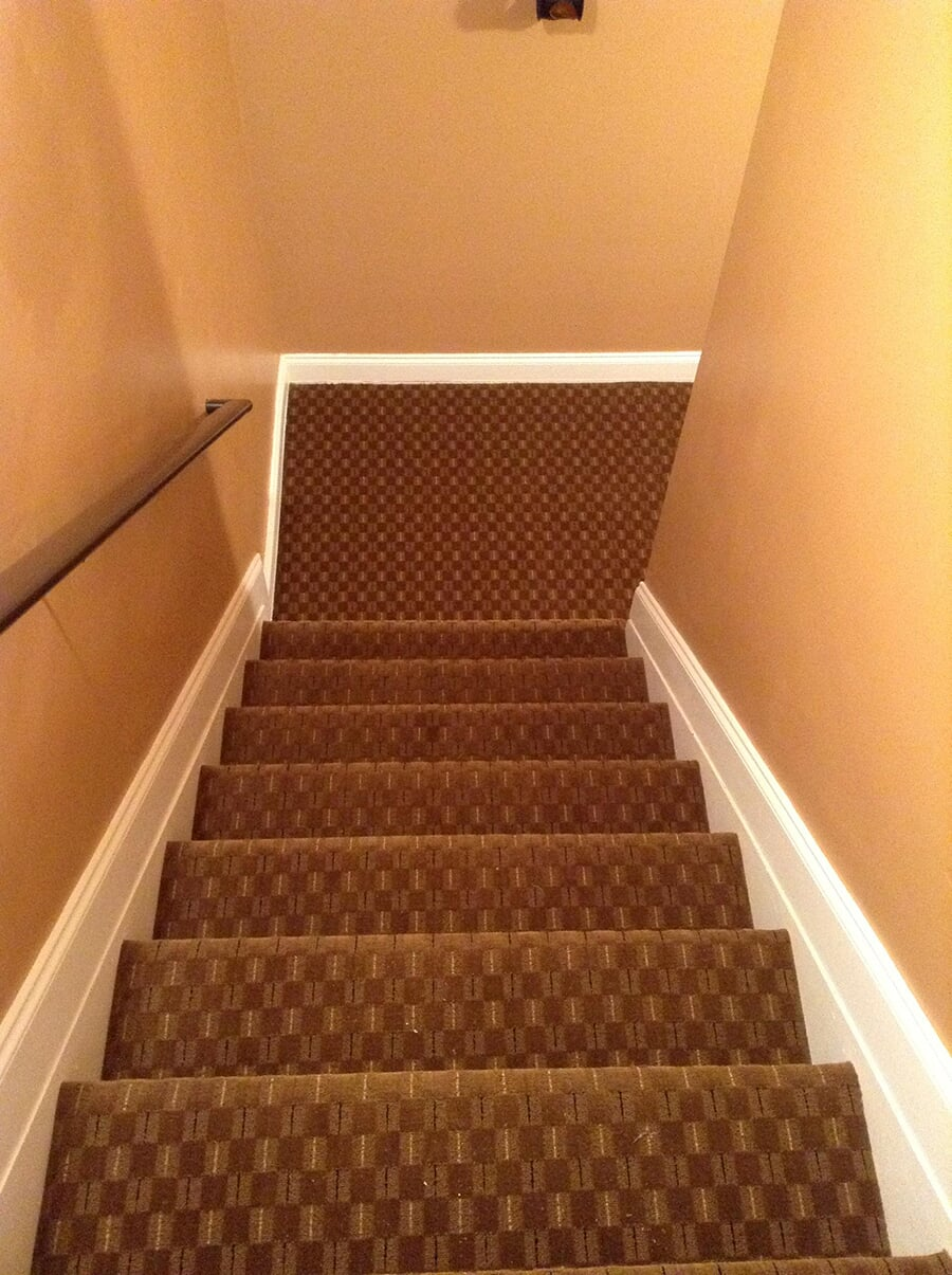 Carpet stairway installation in Norcross, GA from Delta Carpet & Decor