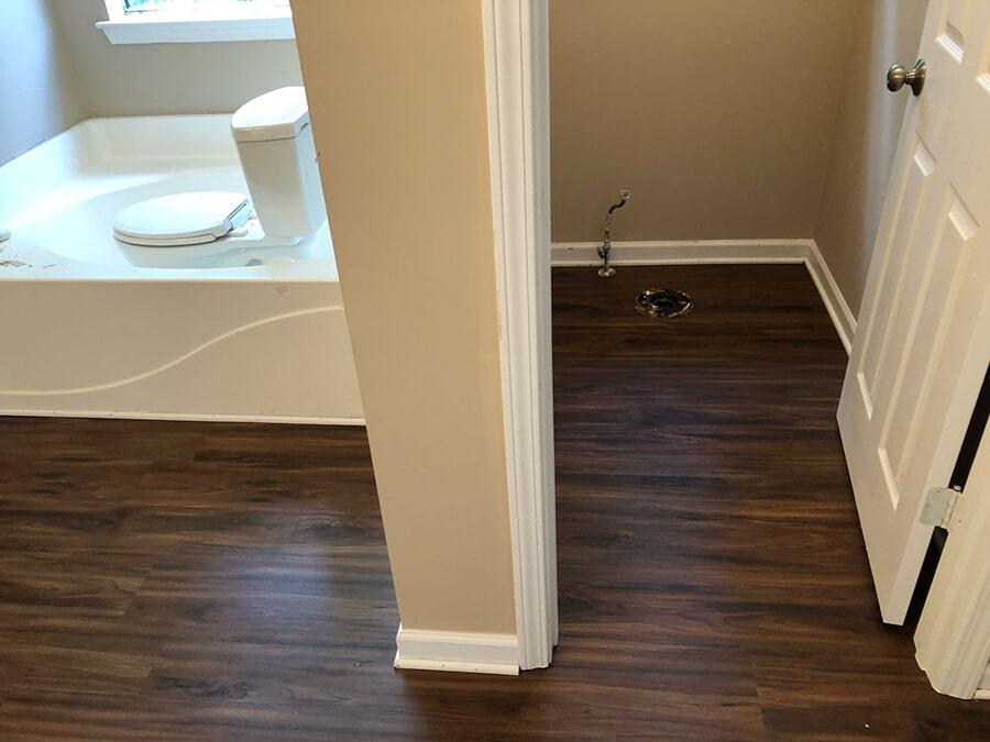 New dark oak hardwood floors in Duluth, GA from Delta Carpet & Decor