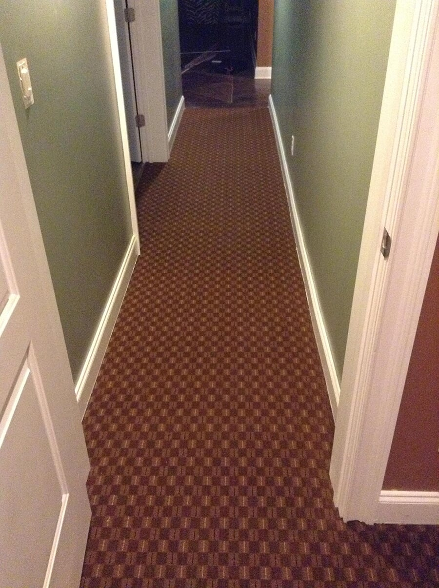 Hallway carpet installation in Stone Mountain, GA from Delta Carpet & Decor