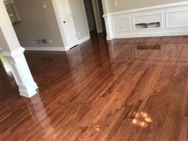 Medium to dark color hardwood in Norcross, GA from Delta Carpet & Decor