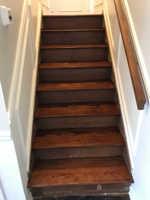 Refinished staircase in Atlanta, GA from Delta Carpet & Decor
