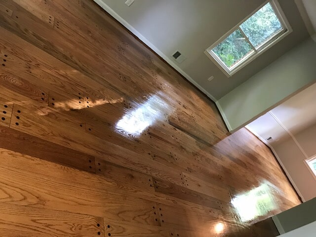 Hardwood like new after refinishing in Norcross, GA from Delta Carpet & Decor