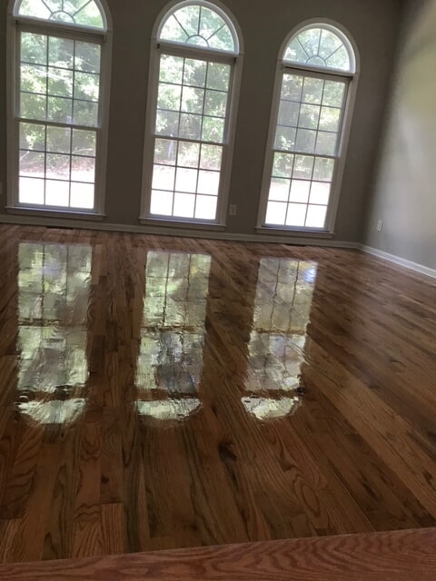 Brightened space with new hardwood in Lawrenceville, GA from Delta Carpet & Decor