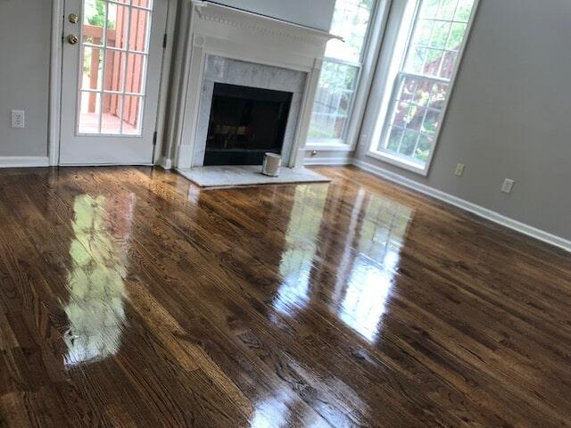 Hardwood flooring living space in Norcross, GA from Delta Carpet & Decor