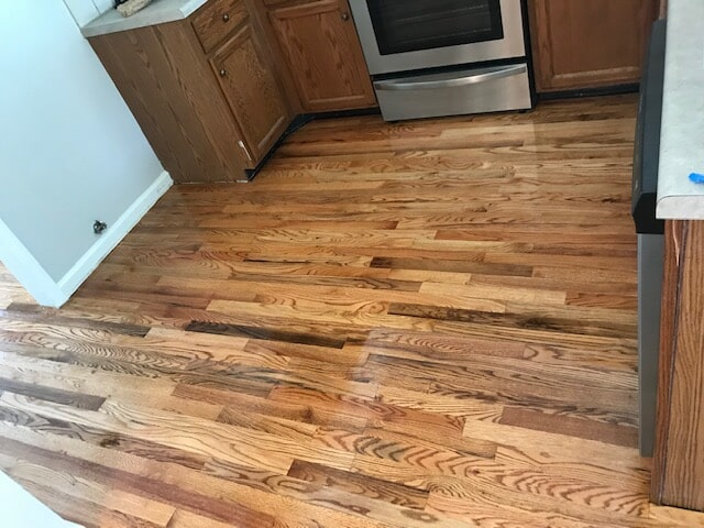 Stone Mountain, GA kitchen with beautiful hardwood from Delta Carpet & Decor
