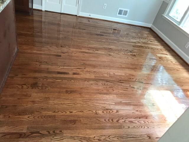 Glossy new hardwood finish in Stone Mountain, GA from Delta Carpet & Decor