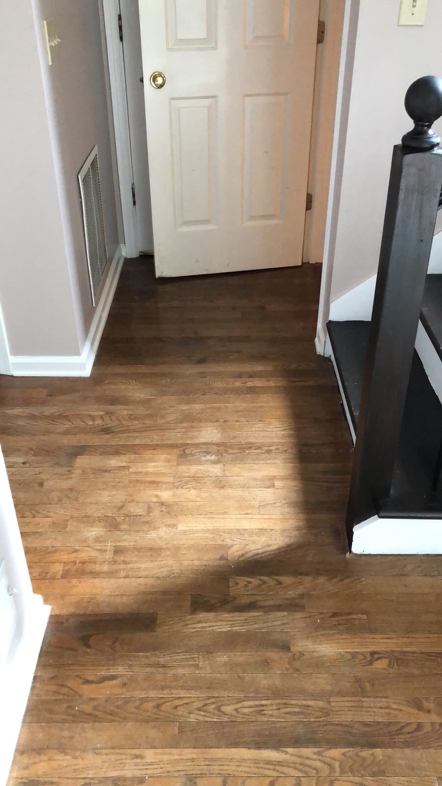Hardwood installed perfectly in a difficult space in Stone Mountain, GA