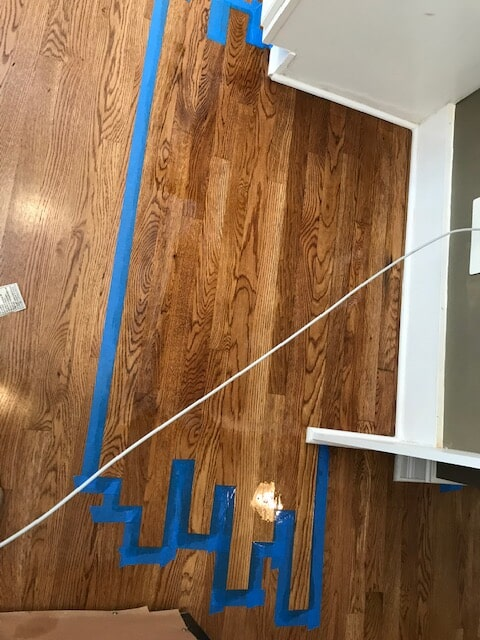 Hardwood repaired in sections in Duluth, GA from Delta Carpet & Decor