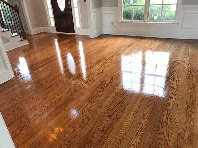 New high gloss hardwood in Atlanta, GA from Delta Carpet & Decor