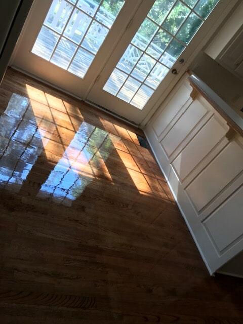 Hardwood finished floors in Lawrenceville, GA from Delta Carpet & Decor