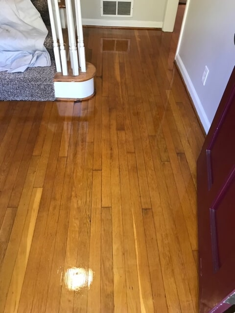 Hardwood surface with gold tones in Atlanta, GA from Delta Carpet & Decor