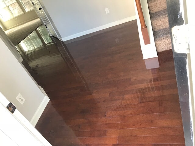 Hardwood with red tones in Lawrenceville, GA from Delta Carpet & Decor