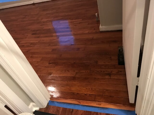 Hardwood refinishing service completed in Norcross, GA from Delta Carpet & Decor
